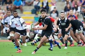 Rieko Ioane scored a try during the Maori All Blacks victory over Fiji in 2015.