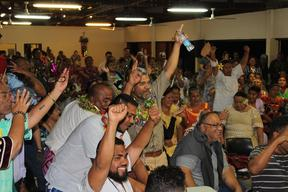 Pacific Awakening (Eveil oceanien) supporters celebrate election success