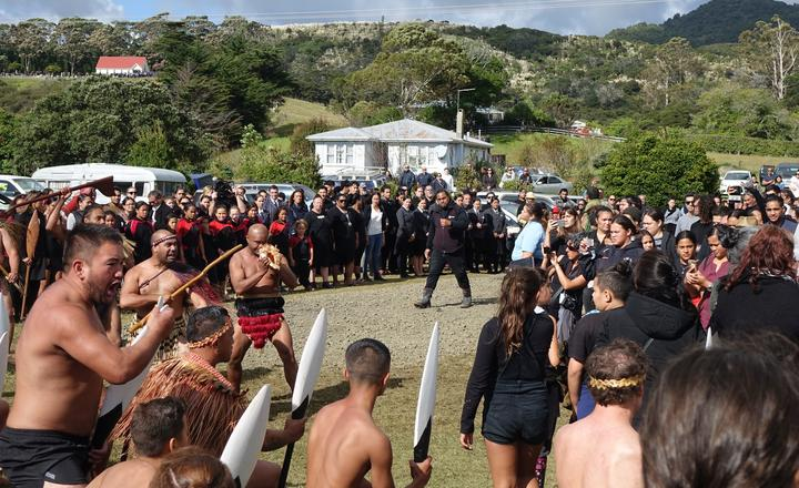 Kaikohe as coffin was coming out