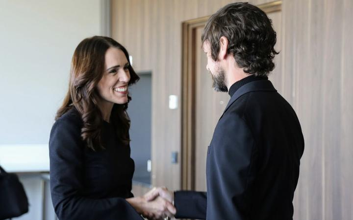 Prime Minister Jacinda Ardern meets Twitter CEO Jack Dorsey at the Christchurch Call summit.