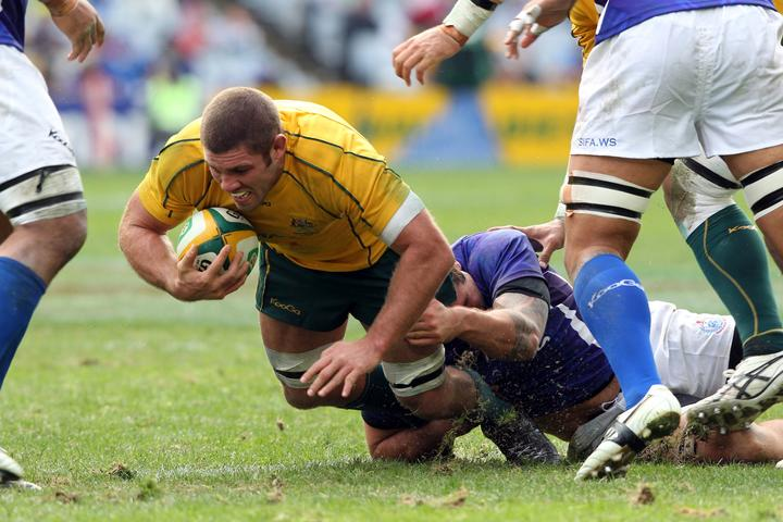 Matt Hodgson made his first test start in the Wallabies shock loss to Samoa in 2011.