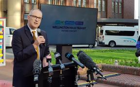 Phil Twyford announces the new $6.4b transport plan for Wellington.