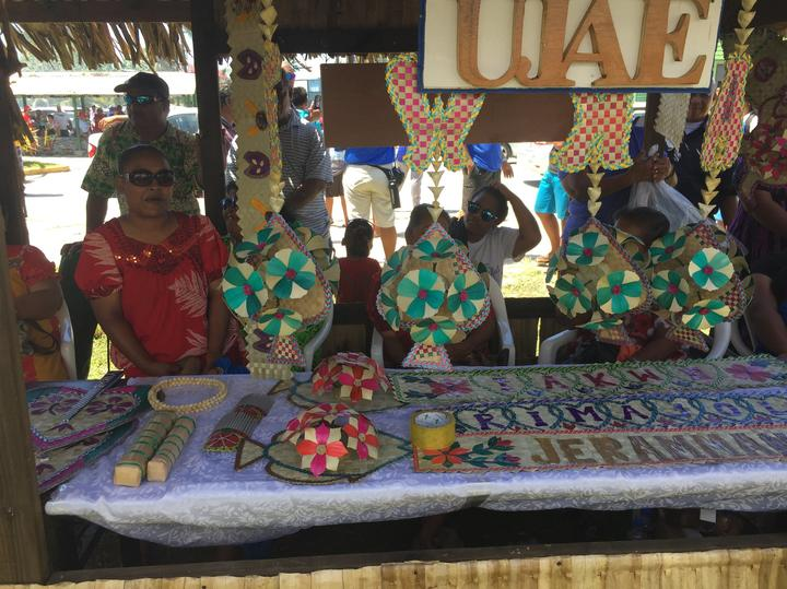 Local crafts on display at this year's One Island One Product initiative in the Marshall Islands.