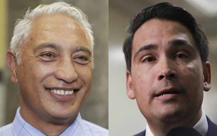 National MP Alfred Ngaro and National Party leader Simon Bridges