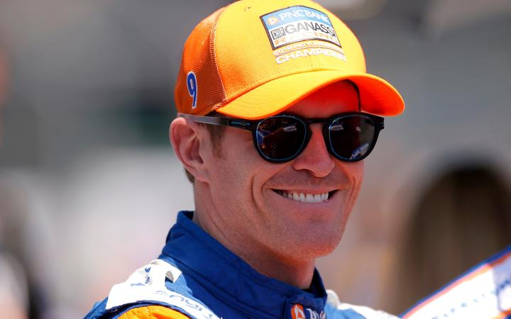 INDIANAPOLIS, IN - MAY 18: IndyCar driver  Scott Dixon (9) of PNC Bank Chip Ganassi Racing during the 103rd Indianapolis 500 Qualifications on May 18, 2019 at the Indianapolis Motor Speedway in Indianapolis, IN. (Photo by Jeffrey Brown/Icon Sportswire)