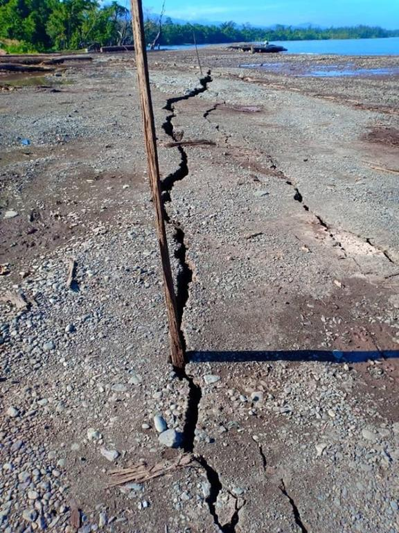 Damage from a 7.5 magnitude earthquake on 14 May 2019 in Namatanai district, New Ireland province PNG.