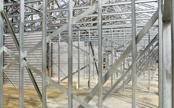 Steel Framing of a New Commercial Building.