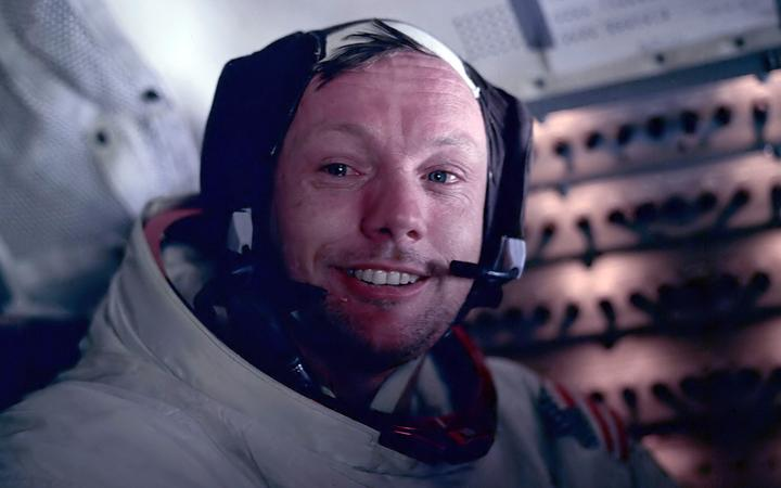 Astronaut Neil Armstrong during the Apollo 11 space mission, 1969.