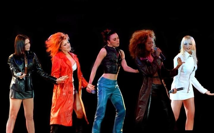 The Spice Girls performing in 1997