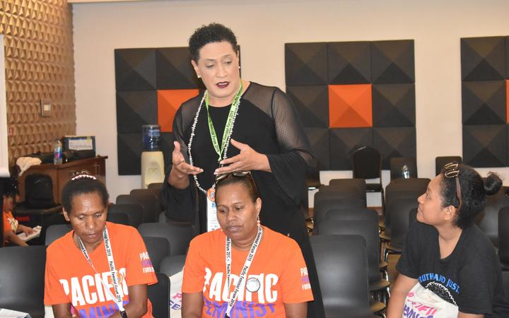 Joey Jolene Mataele at the 2nd Pacific Feminist Forum in Fiji, May 2019