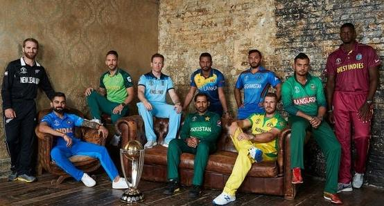 Cricket World Cup captains.