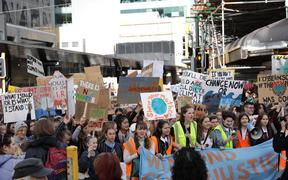 Climate change protest in Wellington