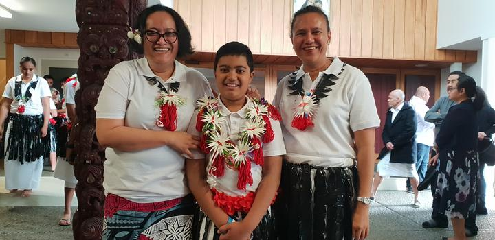 10-year-old Lapuke and his aunties Mere Taito and Agnes Gibson performed for the first time.