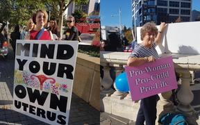Abortion rally in Auckland