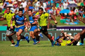 The Fijian Latui scored three tries but two yellow cards proved costly.