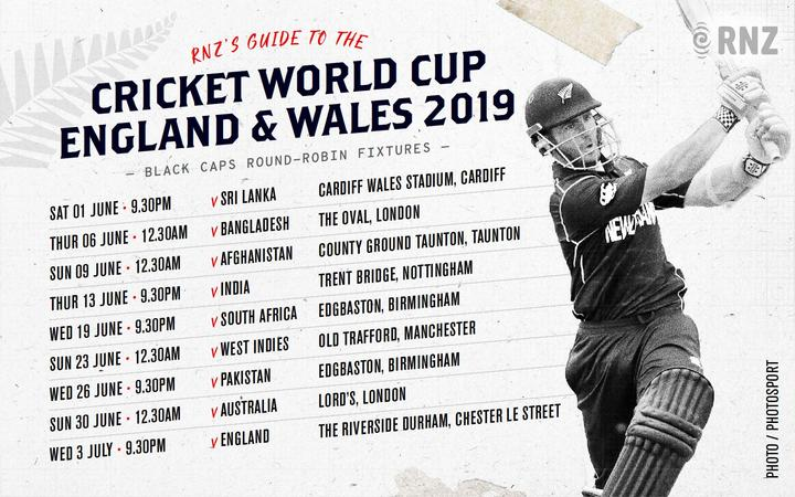 RNZ Cricket World Cup schedule.