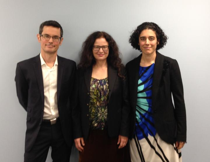 From left to right: Nik Green, Hera Cook and Philippa Yasbek.