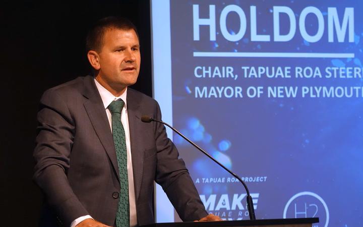 New Plymouth Mayor Neil Holdom Hydrogen Roadmap launch