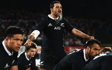 Piri Weepu of the All Blacks leads the haka prior to the Third Test Match between the New Zealand All Blacks and France at Yarrow Stadium on June 22, 2013 in New Plymouth.