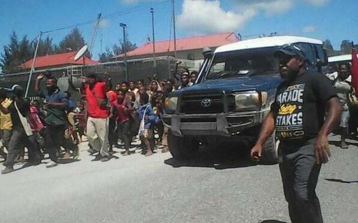 Tari residents celebrate James Marape's election as PNG Prime Minister, 30 May 2019.