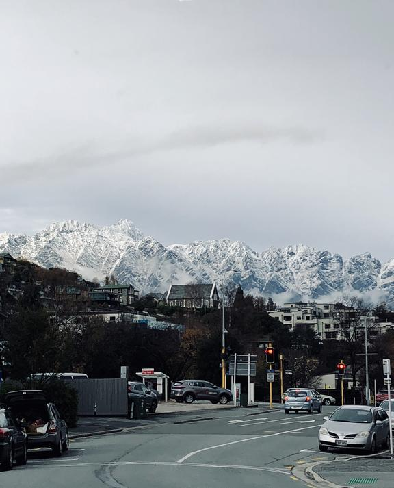 Snow on The Remarkables in Queenstown