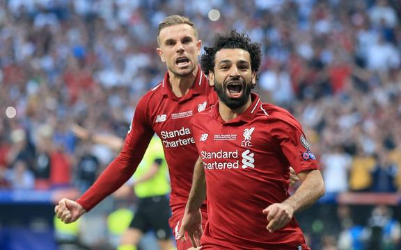 Champions League Final - Tottenham Hotspur v Liverpool - Mohamed Salah of Liverpool celebrates after scoring their first  goal.