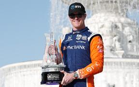 Scott Dixon registered his first win of the year in Detroit.