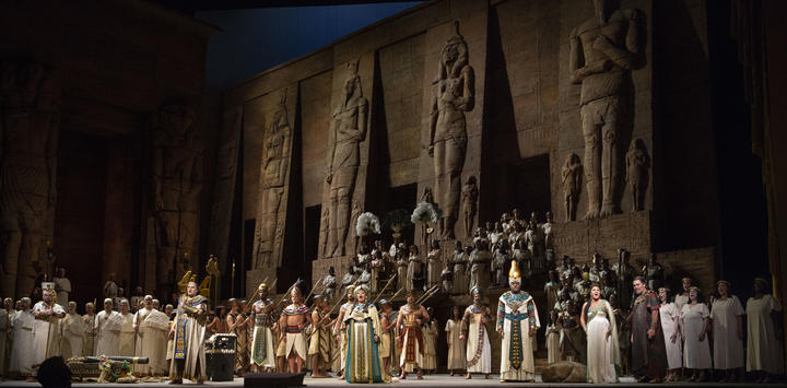 A scene from Aida at The Met
