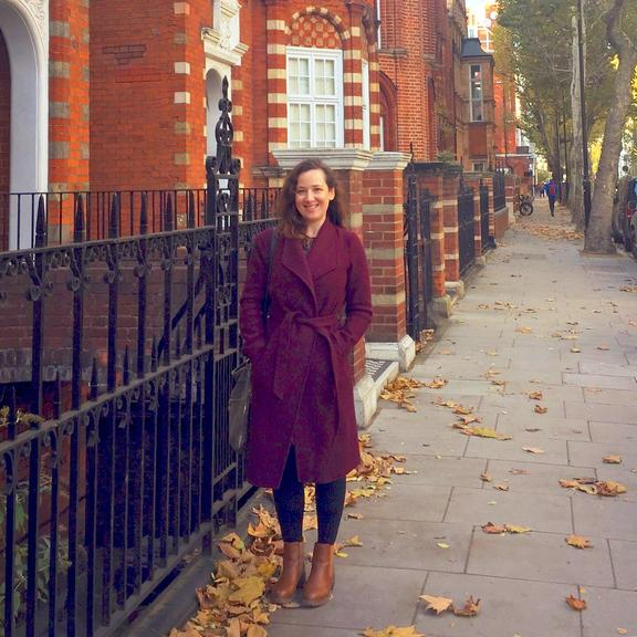 Talia Shadwell on her patch in the London borough of Kensington.
