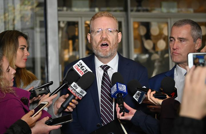 ABC's editorial director Craig McMurtrie speaks to media after Australian police raided the headquarters of public broadcaster in Sydney on June 5.