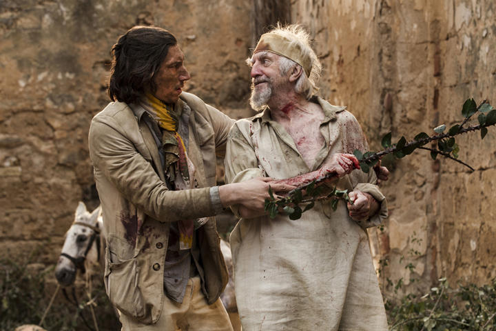 Adam Driver (left) and Jonathan Pryce in The Man Who Killed Don Quixote.