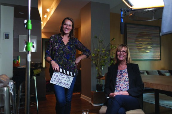 Amy Adrion with Chris Hegedus, an American filmmaker
