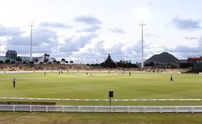 The Bay Oval cricket ground in Mt Maunganui.