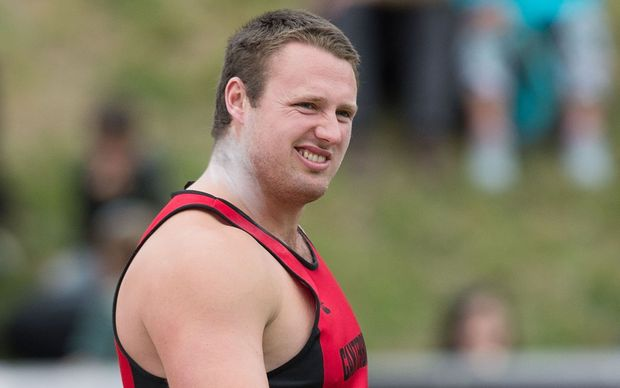 New Zealand and Canterbury shot putter Tom Walsh competes in the Men's Shot-Put Senior during the National Athletics Championship in Wellington in March.