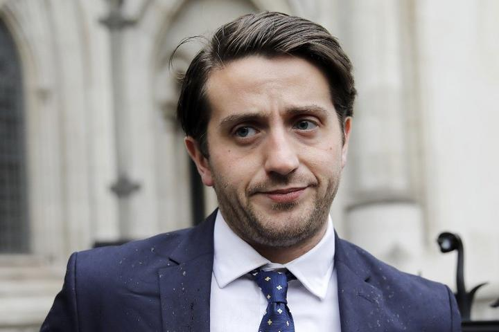 Businessman Marcus Ball, who crowd-funded a private initiative to bring Conservative MP Boris Johnson to court over his Brexit claims During the 2016 referendum, arrives at the Royal Courts of Justice, Britain's High Court, in London on June 7, 2019.
