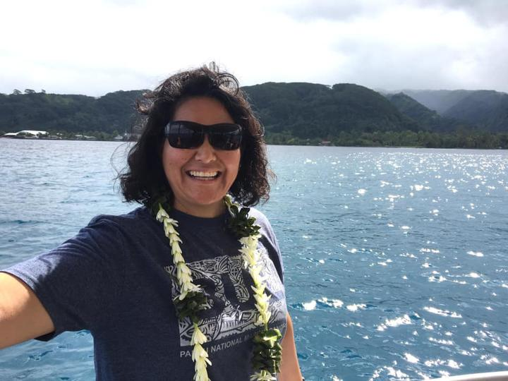 Palau Legacy Project co-founder Jennifer Koskelin at Island Voices in Tahiti.