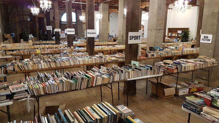 The Oamaru Bookarama offers up as many as 35,000 books, all for a gold coin.