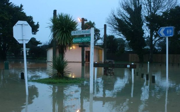 A welfare centre has been set up after flooding in Moerewa.