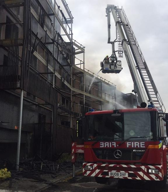 Major incident declared as fire destroys London flats