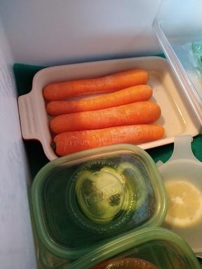 Carrots in water