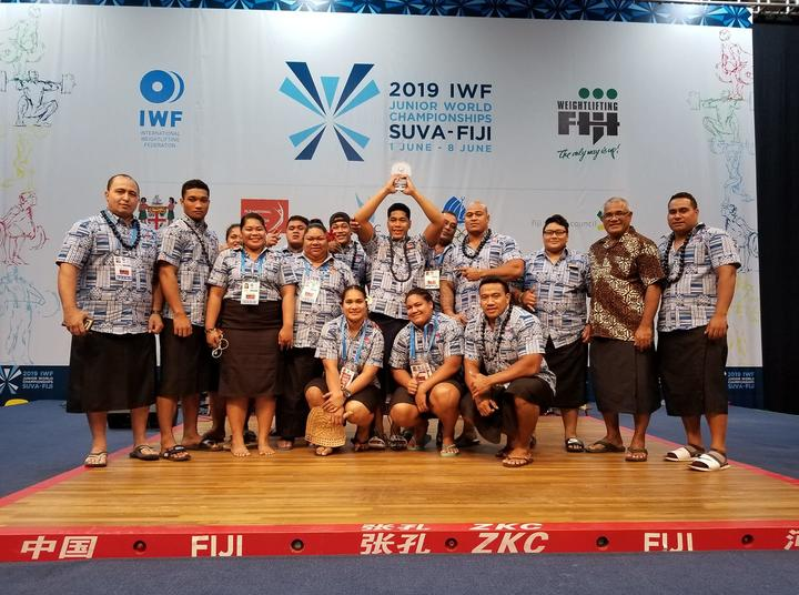 Samoa celebrate a historic week at the Junior World Weightlifting Championships.