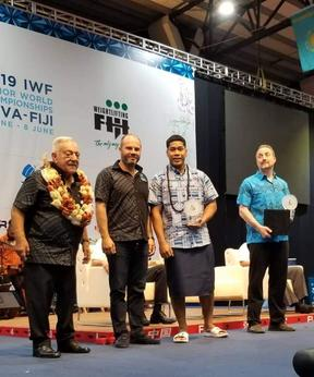 "Don Opeloge was recognised as the ""Best Overall Male Lifter"" in Suva."