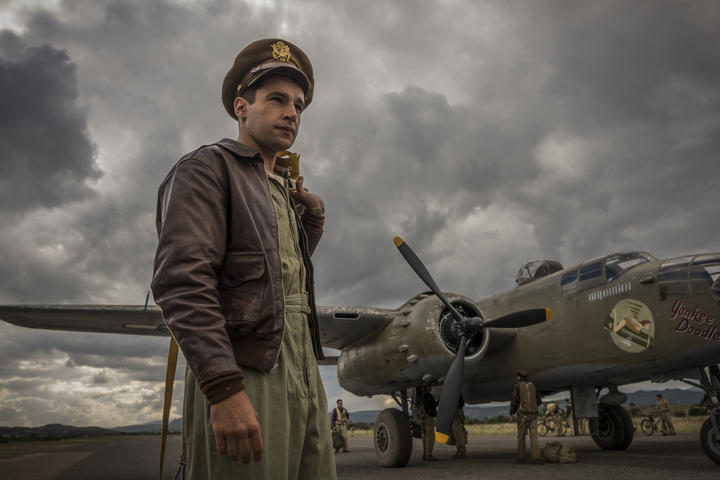 Yossarian (Christopher Abbott) in Catch-22. (Photo by: Philipe Antonello)
