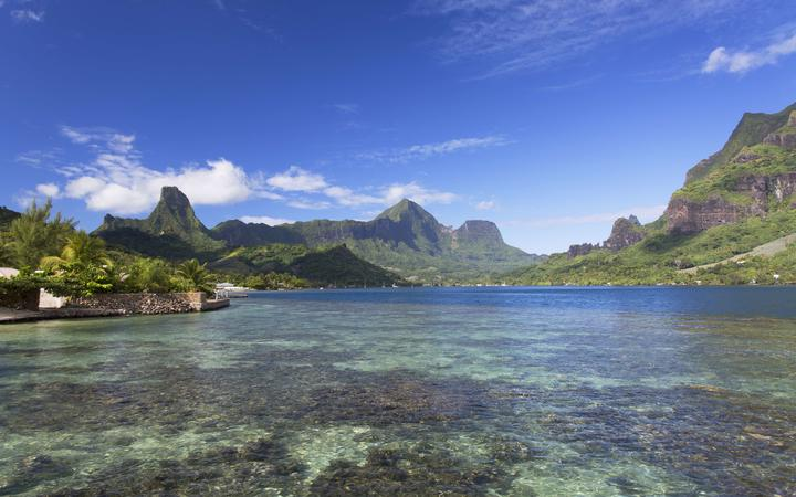 Cooks Bay in Moorea, French Polynesia. The corals that surround it have been considered some of the healthiest in the world.