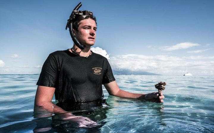 As an 18-year-old concerned at the state of the reef, Titouan Bernicot formed Mo'orea Coral Gardeners in an effort to restore it.