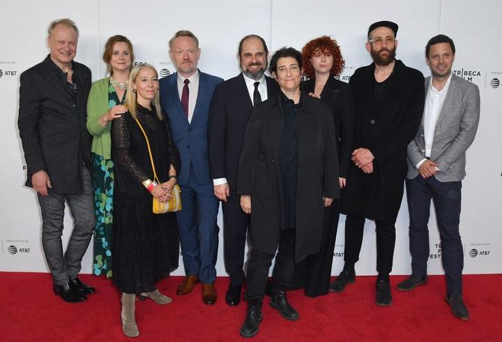 (L-R) Stellan Skarsgard, Emily Watson, Jane Featherstone, Jared Harris, Craig Mazin, Carolyn Strauss, Jessie Buckley and Johan Renck attend Tribeca TV: Chernobyl at the 2019 Tribeca Film Festival on April 26, 2019 in New York City.