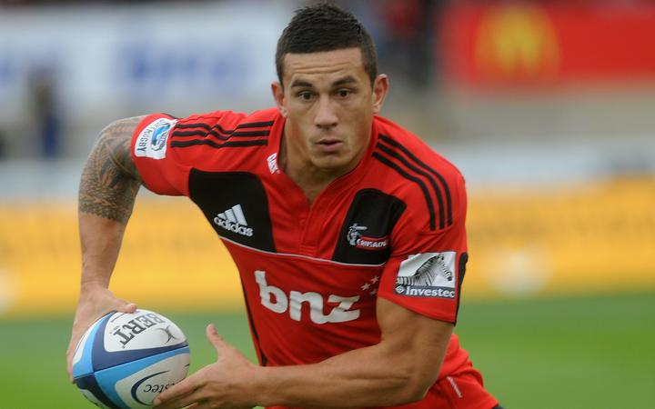 Sonny Bill Williams playing for the Crusaders in 2011.
