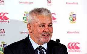 Warren Gatland appointed British & Irish Lions Head Coach.