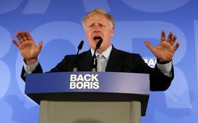 Boris Johnson at his campaign launch.