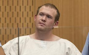 Brenton Tarrant, the man charged in relation to the mosque shootings in Christchurch massacre, in the dock at Christchurch District Court for his first appearance on 16 March.